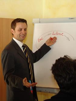 Schulungsraum im Bildungsforum Obernburg - Flipchart